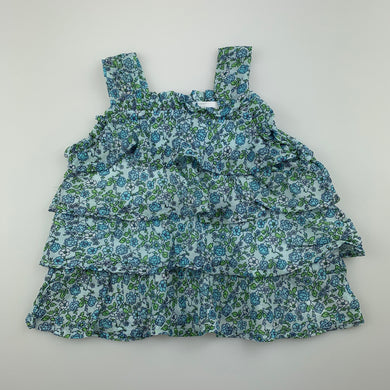 Girls Babies R Us, floral tiered summer top, EUC, size 12 months