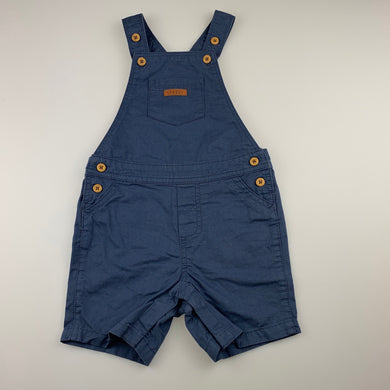 Boys Sprout, blue cotton overalls / shortalls, EUC, size 2