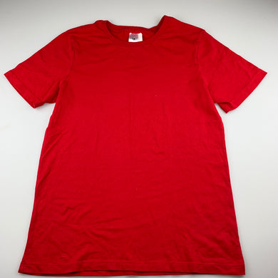 Unisex Target, red cotton school t-shirt, EUC, size 14