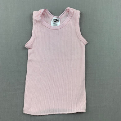 Girls Baby Berry, pink ribbed cottonn singlet top, EUC, size 00000