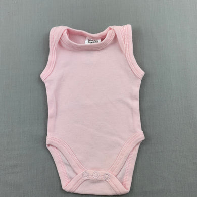 Girls Baby Berry, pink soft cotton singletsuit / romper, EUC, size 00000