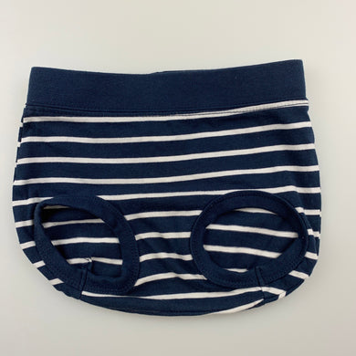Unisex Anko Baby, navy stripe bloomers / nappy cover, EUC, size 0