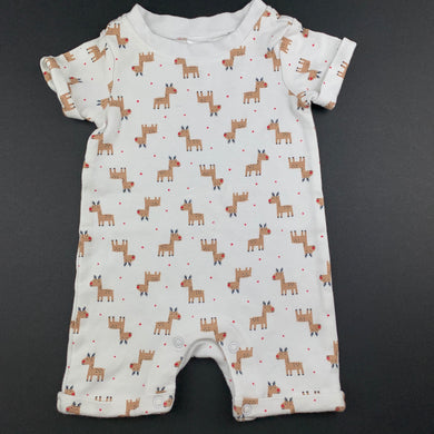 Unisex Anko Baby, soft cotton Christmas romper, reindeer, EUC, size 000