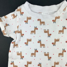 Load image into Gallery viewer, Unisex Anko Baby, soft cotton Christmas romper, reindeer, EUC, size 000