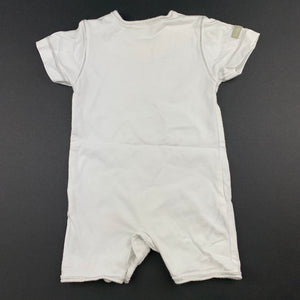 Unisex Pumpkin Patch, white cotton romper, holiday fun, GUC, size 0000