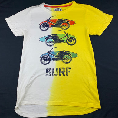 Boys POSH, soft cotton t-shirt / top, surf, EUC, size 12-13