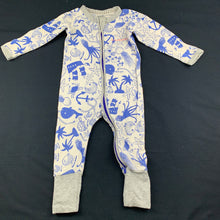 Load image into Gallery viewer, Unisex Bonds, zip wondersuit / zippy / romper, fish, FUC, size 00