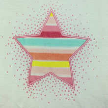 Load image into Gallery viewer, Girls Target, white cotton t-shirt / top, glitter star, EUC, size 9