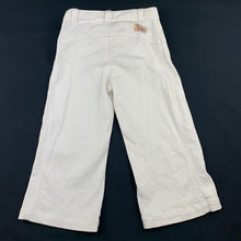Load image into Gallery viewer, Girls Piccolina, white stretchy cotton pants, W: 46cm, Inside leg: 32cm, FUC, size 4
