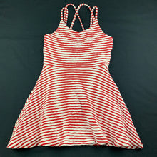 Load image into Gallery viewer, Girls Tilii, red & white stripe summer dress, GUC, size 8