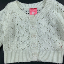 Load image into Gallery viewer, Girls Pumpkin Patch, cream knitted cardigan / sweater, FUC, size 0