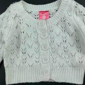 Girls Pumpkin Patch, cream knitted cardigan / sweater, FUC, size 0