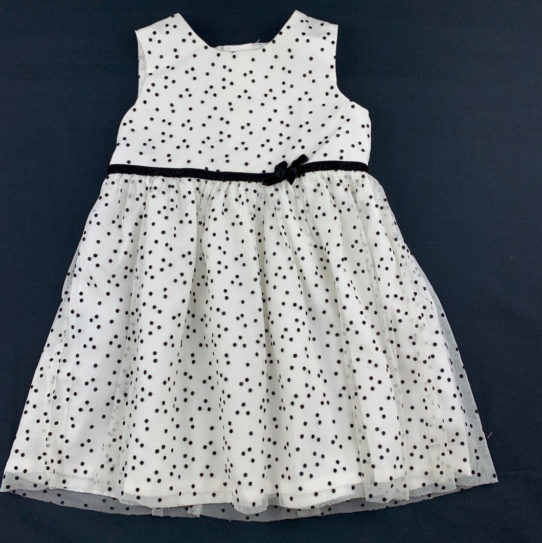 Girls Carter's, lined black & white tulle party dress, GUC, size 1-2
