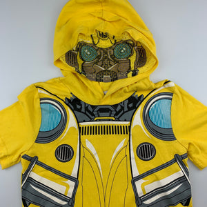 Boys Transformers, Bumble Bee hooded t-shirt / top, EUC, size 6