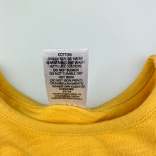 Load image into Gallery viewer, Girls Target, Baby, mustard cotton top, broderie sleeves, GUC, size 1