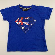 Load image into Gallery viewer, Unisex Hoxley Australia, blue cotton t-shirt / top, EUC, size 2