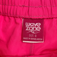 Load image into Gallery viewer, Girls Wave Zone, lightweight shorts / board shorts, elasticated, EUC, size 8