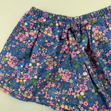 Load image into Gallery viewer, Girls Cotton On, floral lightweight cotton shorts, elasticated, GUC, size 1