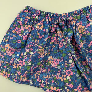 Girls Cotton On, floral lightweight cotton shorts, elasticated, GUC, size 1