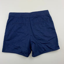 Load image into Gallery viewer, Girls Target, navy lightweight cotton shorts, adjustable, GUC, size 7
