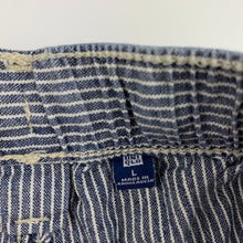 Load image into Gallery viewer, Boys Uniqlo, blue & white stripe cotton shorts, elasticated, GUC, size 10