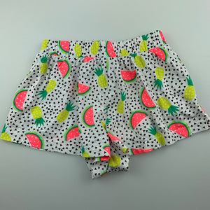 Girls Target, cotton shorts, elasticated, pineapples, GUC, size 3-4