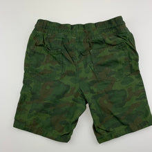 Load image into Gallery viewer, Boys Target, khaki camo print cotton shorts, elasticated, EUC, size 6
