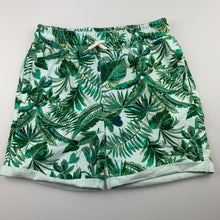 Load image into Gallery viewer, Boys Cotton On, knit shorts, elasticated, palm leaves, FUC, size 9