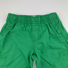 Load image into Gallery viewer, Boys Carter's, green cotton pants, elasticated, Inside leg: 27cm, GUC, size 1-2