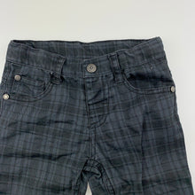 Load image into Gallery viewer, Boys Sprout, checked cotton pants, adjustable, Inside leg: 33cm, GUC, size 2