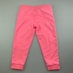 Girls Target, pink track  sweat pants, elasticated, GUC, size 2