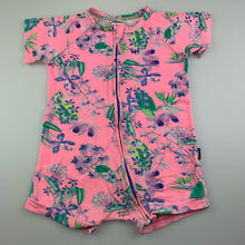 Load image into Gallery viewer, Girls Bonds, floral zip wondersuit / romper, FUC, size 2