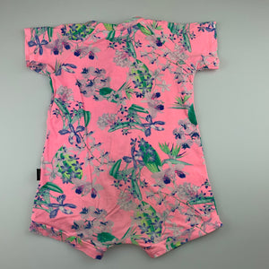 Girls Bonds, floral zip wondersuit / romper, FUC, size 2