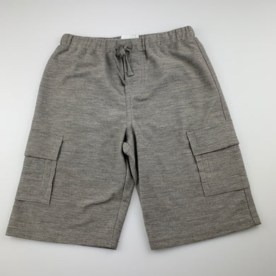 Boys Cocoon Clothing, grey soft feel cargo shorts, elasticated, EUC, size 7