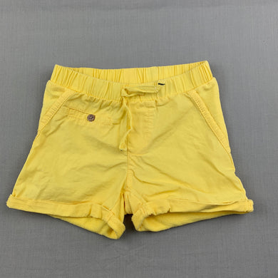 Unisex Anko Baby, yellow shorts, elasticated, GUC, size 00