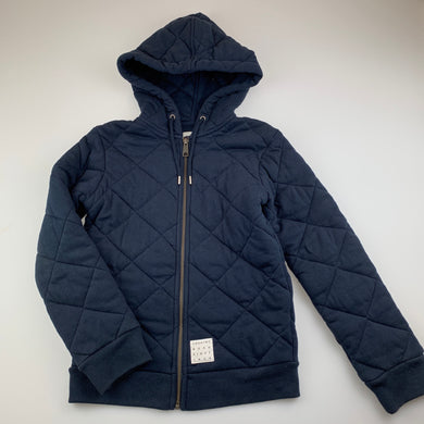 Boys Country Road, navy quilted cotton jacket, EUC, size 8
