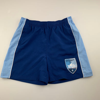 Unisex A League Official, Sydney FC soccer / sports shorts, EUC, size 12