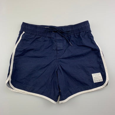 Boys Country Road, navy lightweight cotton swim shorts, FUC, size 8