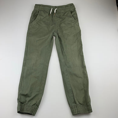 Boys Anko, khaki cotton pants, elasticated, Inside leg: 51cm, GUC, size 7