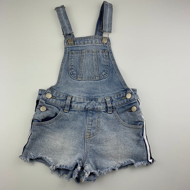 Girls Breakers, blue stretch denim overalls / shortalls, GUC, size 7