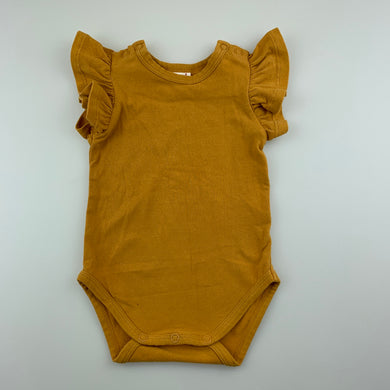 Girls Seed, mustard stretchy bodysuit / romper, EUC, size 0000