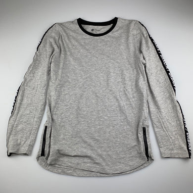 Boys B Collection, grey marle long sleeve t-shirt / top, skate, EUC, size 12