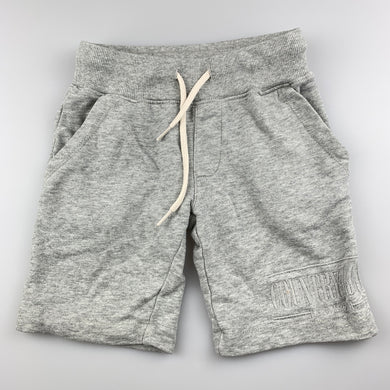Boys Country Road, grey knit cotton shorts, elasticated, FUC, size 4