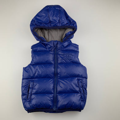 Boys Sprout, cotton lined hooded puffer vest, EUC, size 1