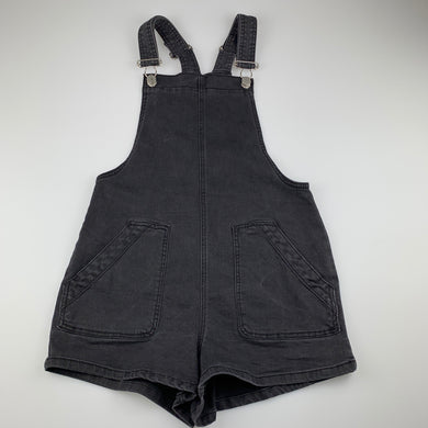 Girls Seed, black stretch denim overalls / shortalls, GUC, size 10