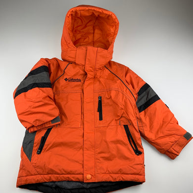 Boys Columbia Sportswear, orange winter jacket / coat, GUC, size 4-5