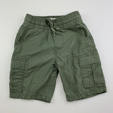 Boys Pumpkin Patch, khaki lightweight cotton shorts, elasticated, EUC, size 2