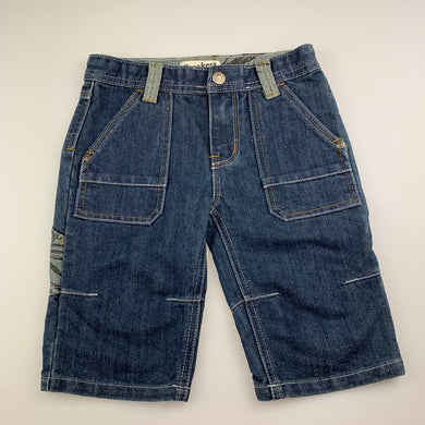 Boys Breakers, blue denim long shorts, adjustable, EUC, size 5