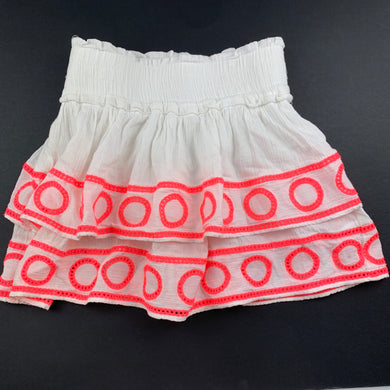 Girls Country Road, crinkle cotton tiered skirt, elasticated, EUC, size 4