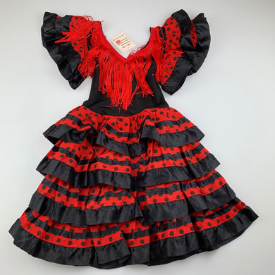 Girls red & black, party dress / costume, NEW, size 2